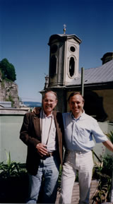 Photo of pianist Imre Rohmann with Harold Schiffman. Salzburg, Austria (31 May 1998)
