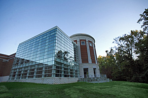 Photo of The School of Music Building of the University of North Carolina at Greensboro. Photograph courtesy of UNCG (http://www.uncg.edu/mus/)