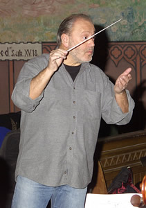 Photo of conductor Mátyás Antal. Photograph by Gyula Berényi