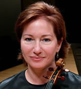 Photo of Rebekah Binford, violin. Photograph by Michael Schultz