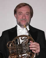 Photo of Tamás Zempléni, French horn. Photograph courtesy of Tamás Zempléni