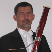 Photo of Pál Bokor, bassoon. Photograph courtesy of Pál Bokor