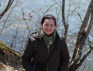 Photo of Szidi by the banks of the Little Tennessee River, North Carolina on 12 March 2008