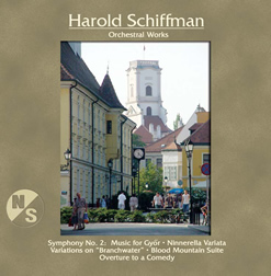 Photo of the Front Cover of the Orchestral Works CD
