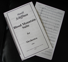 Score of Blood Mountain Suite for Orchestra (2008)
