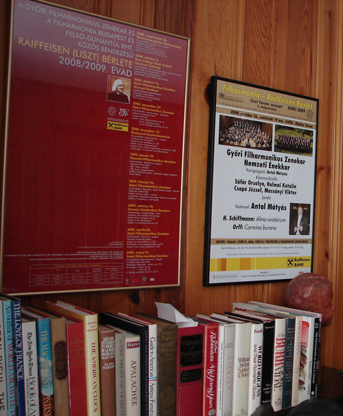 The two large posters for the performance of Alma (2002) in Gyor, seen in the Schiffman home.  Tallahassee, Florida (16 October 2008)
