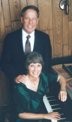 Photo of Harold Schiffman and Jane Perry-Camp used for the back cover of Spectrum's CD, Tallahassee, Florida (June 1994)