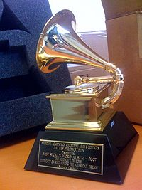 Photo of The Grammy Awards Trophy; Photograph from Wikipedia