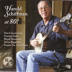 Photo of the Front Cover of the Harold Schiffman at 80! CD