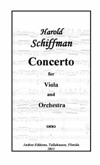 Photo of the cover page of Concerto for Viola and Orchestra (2011)
